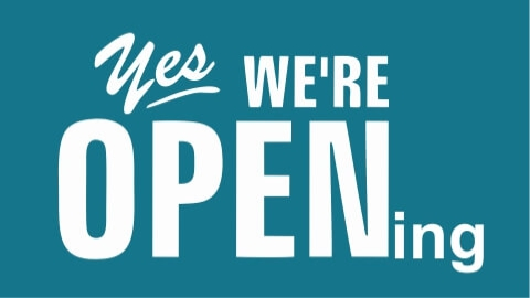 We are OPENing
